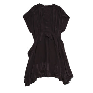 Balenciaga Black Silk Short Dress, Size 42 (French)