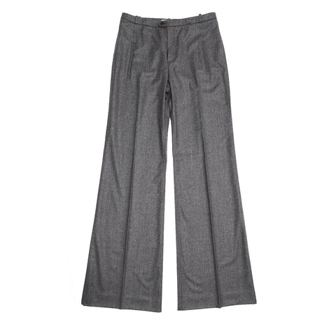 Balenciaga Grey Flannel Wide Legged Pants, Size 44 (French)