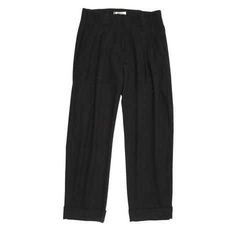 Black Pleated Baggy Pants
