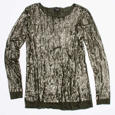 Find an authentic preowned Balmain Gold Metal Sequin Top size 38 (French) at BunnyJack, where a portion of every sale goes to charity.
