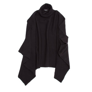 Find an authentic preowned Balmain Black Wool & Cashmere Poncho size 38 (French) at BunnyJack, where a portion of every sale goes to charity.