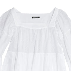 Find an authentic preowned Balmain White Cotton 3/4 Sleeves Top size 38 (French) at BunnyJack, where a portion of every sale goes to charity.