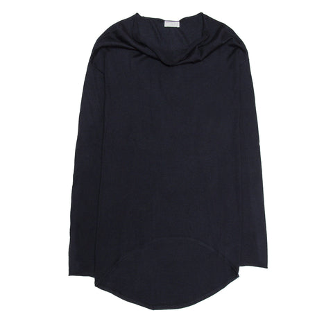Navy Cashmere Long Sweater