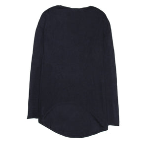 Find an authentic preowned Brunello Cucinelli Navy Cashmere Long Sweater, size M at BunnyJack.