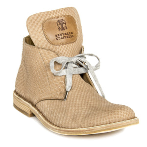 Find an authentic preowned Brunello Cucinelli Tan Python Ankle Boots, size 40 (Italian) at BunnyJack.