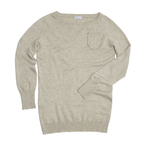 Grey Cashmere Long Sweater