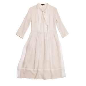 Ivory Silk Chiffon Dress