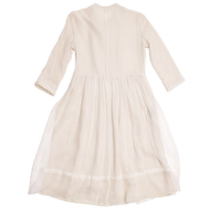 Burberry Ivory Silk Chiffon Dress