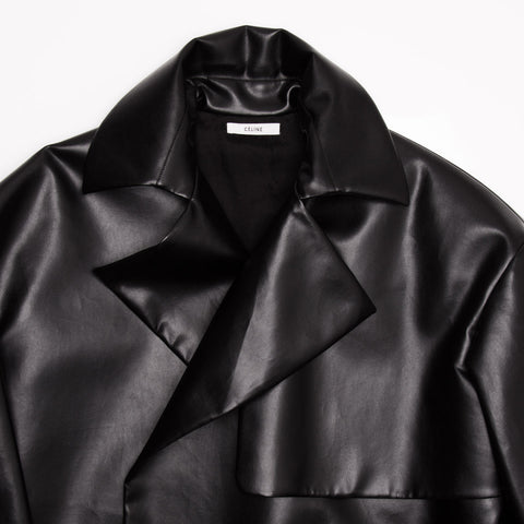 Find an authentic preowned Celine Black Boxy Oversized Coat, size 34 (French) at BunnyJack, where a portion of every sale goes to charity.