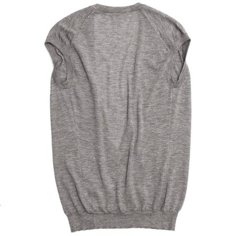 Find an authentic preowned Celine Grey Cashmere Deep V-Neck Vest, size L at BunnyJack, where a portion of every sale goes to charity.