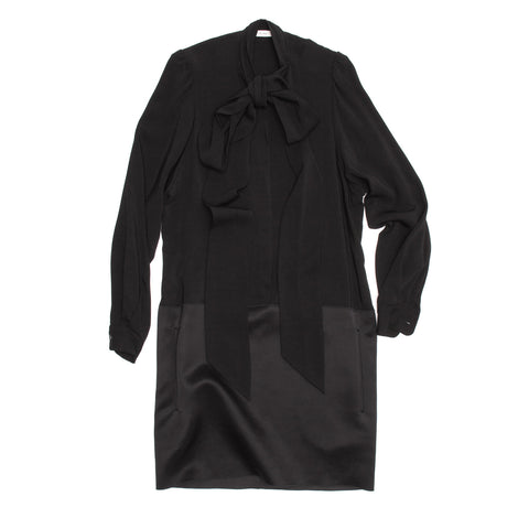 Celine Black Drop Waist Dress, size 38 (French)