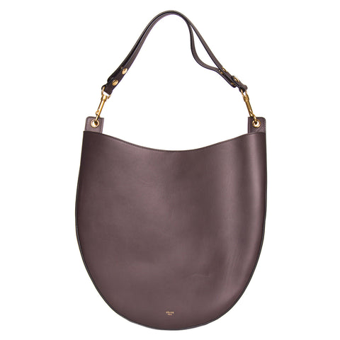 Find an authentic preowned Celine Grey Brown Leather Medium Bag at BunnyJack, where a portion of every sale goes to charity.