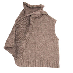 Find an authentic preowned Celine Grey Brown Chunky Sleeveless Knit, size S at BunnyJack, where a portion of every sale goes to charity.