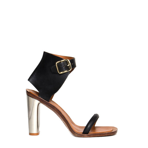 Find an authentic preowned Celine Black & Silver Sandals, size 40 (Italian) at BunnyJack, where a portion of every sale goes to charity.
