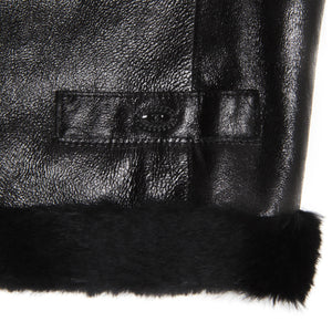 Find an authentic preowned Chanel Black Leather & Fur Vest, size 40 (French) at BunnyJack, where a portion of every sale goes to charity.