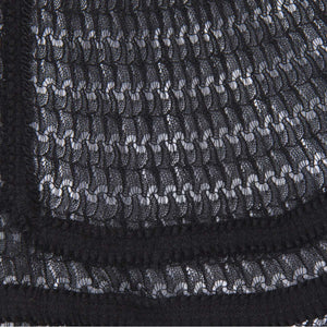Find an authentic preowned Chanel Black Knit Open Front Dress, size 44 (French) at BunnyJack, where a portion of every sale goes to charity.