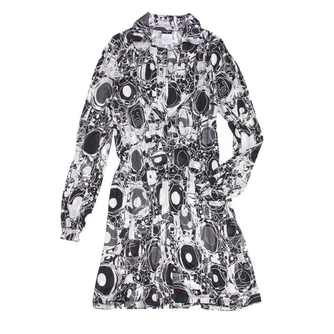 Chanel Black & White Printed Dress, size 42 (French)