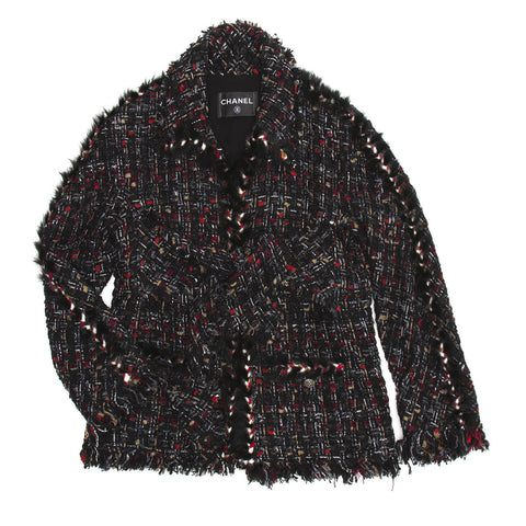 Find an authentic preowned Chanel Multicolor Tweed Jacket, size 42 (French) at BunnyJack, where every sale triggers a charity donation.