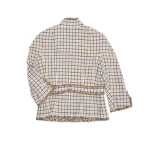 Find an authentic preowned Chanel Multicolor Cotton Tweed Jacket, size 44 (French) at BunnyJack, where every sale triggers a charity donation.