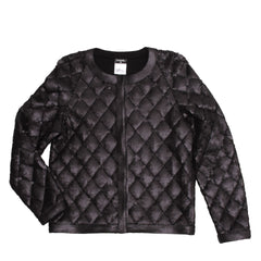 Find Chanel Quilted Jackets, authentic and preowned at BunnyJack. This Chanel Black Matte Sequin Quilted Jacket comes in size 42 (French).
