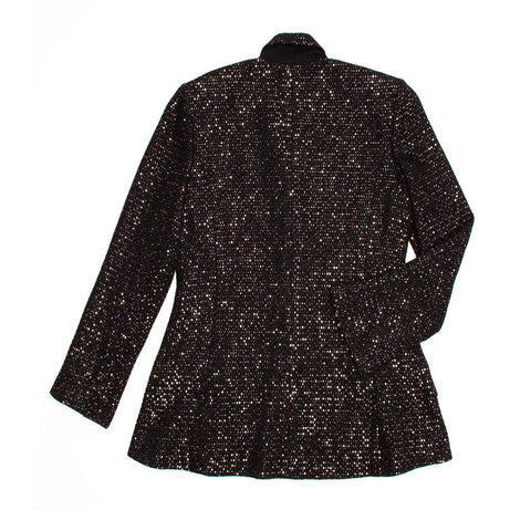 Find an authentic preowned Chanel Black & Gold Sequined Blazer size 44 (French) at BunnyJack, where a portion of every sale goes to charity.