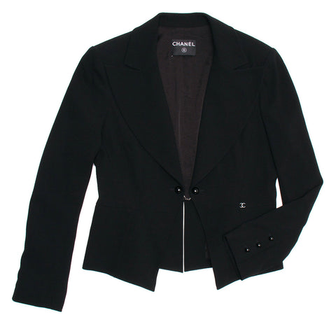 Chanel Black Wool Short Blazer, size 44 (French)