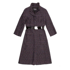 Find an authentic preowned Chanel Multicolor Herringbone Tweed Coat, size 42 (French) at BunnyJack, where every sale triggers a charity donation.