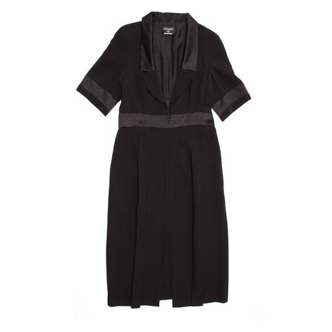 Chanel Black Silk Dress, size 46 (French)