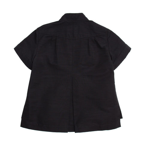 Find an authentic preowned Chanel Black Cotton Top With Bow, size 38 (French) at BunnyJack, where a portion of every sale goes to charity.