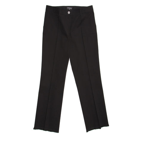 Chanel Black Cotton Cropped Pants, size 44 (French)