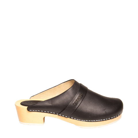 Chanel Black Leather Clogs, size 41 (Italian)