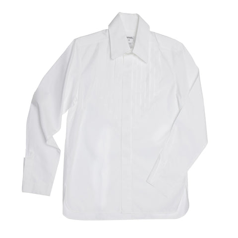 Chanel White Shirt With Bib For Man, size 48 (French)