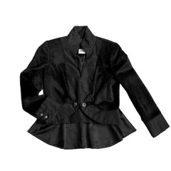 Chanel Black Alpaca Tuxedo Jacket, size 44 (French)