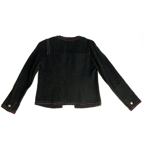 Chanel Black Shearling Jacket, size 42 (French)