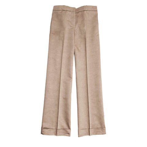 Chloe Khaki Cotton Boot Legged Pants, Size 44 (French)
