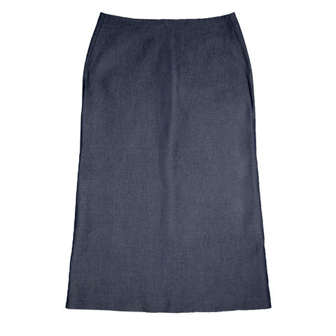Blue Chambray Skirt