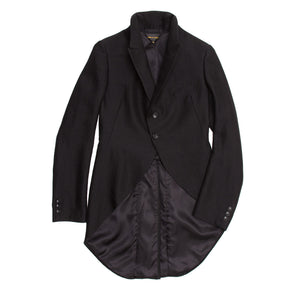 Comme Des Garcons Black Wool Horse Riding Blazer, Size M