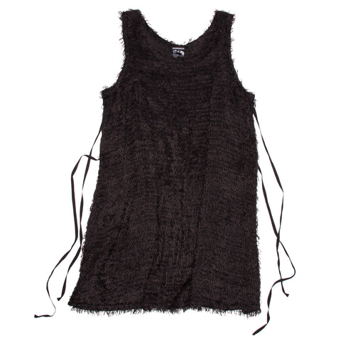 Find an authentic preowned Ann Demeulemeester Black Mohair Dress, size 42 (French) at BunnyJack.