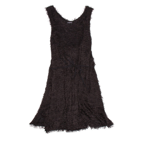 Ann Demeulemeester Black Mohair Dress, size 42 (French)