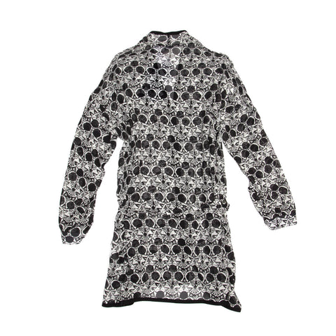 Find an authentic preowned Ann Demeulemeester Black & White Art Deco Tunic, size 38 (French) at BunnyJack.
