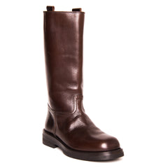 Chocolate Brown Leather Boots