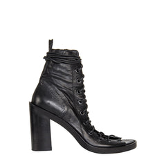 Find an authentic preowned Ann Demeulemeester Black Lace Up Sandals, size 41 (Italian) at BunnyJack.