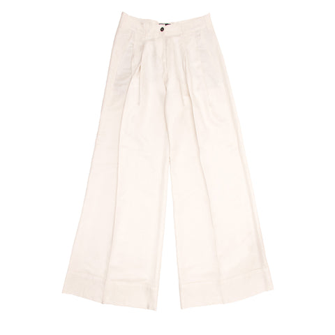 Find an authentic preowned Ann Demeulemeester Ivory Wide Legged Pants, size 40 (French) at BunnyJack.