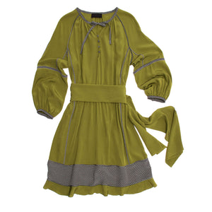 Green Peasant Style Dress
