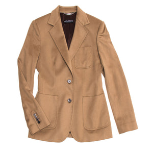 Find an authentic preowned Dolce & Gabbana Tan Cashmere Blazer, size 44 (Italian) at BunnyJack.