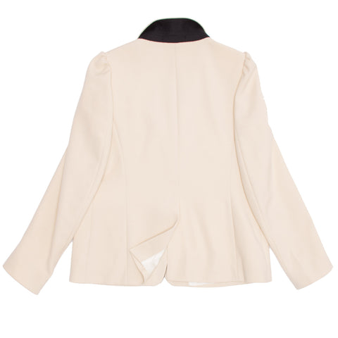 Cream & Black Wool Blazer