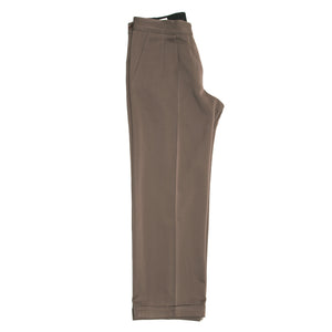 Brown Wool Pleated Pants