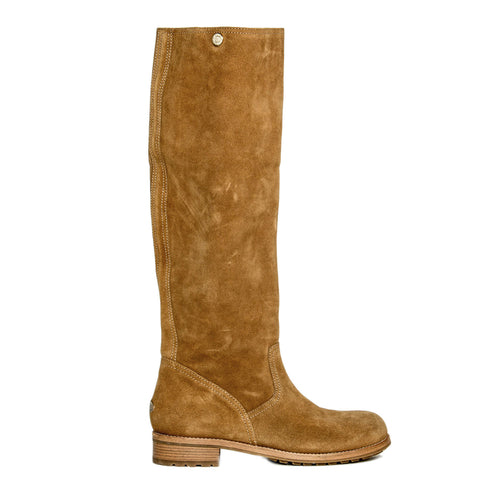 Brown Suede Knee Height Boot