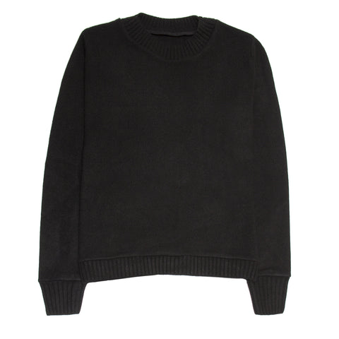 Black Crew Neck Cashmere Sweater