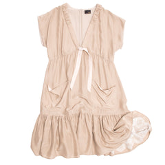 Taupe Silk Crepe Dress